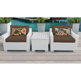 Monaco 3 Piece Outdoor Wicker Patio Furniture Set 03a