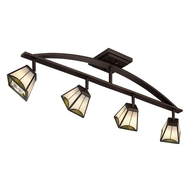 Aztec Lighting 4-light Mission Bronze Rail/Flush Mount Fixture