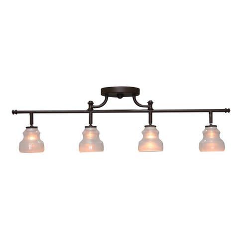 Aztec Lighting 4-light Olde Bronze Rail/Semi-Flush Fixture