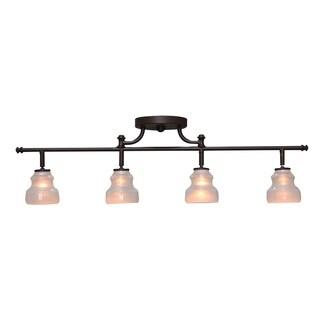 Link to Aztec Lighting 4-light Olde Bronze Rail/Semi-Flush Fixture Similar Items in Track Lighting