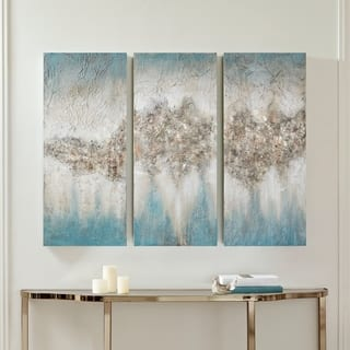Madison Park Blue Luminous Hand Painted Canvas