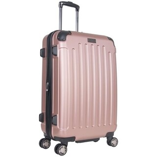 Heritage 'Logan Square' 25-inch Lightweight Hardside Expandable 8-Wheel Spinner Checked Suitcase