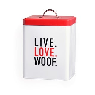Live Love Woof LG Metal Canister