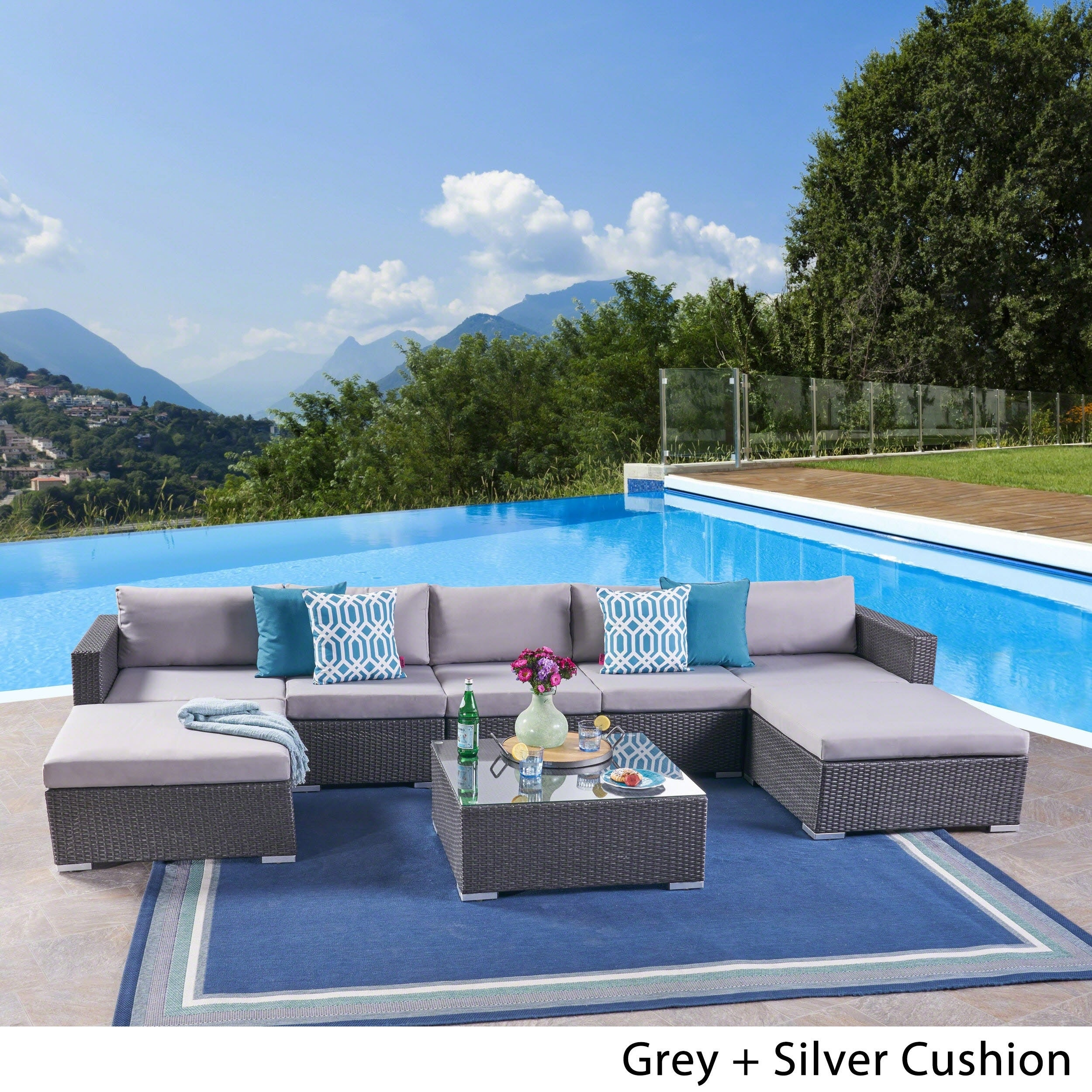 Amazing Details About Santa Rosa Outdoor 5 Seater Wicker Sectional Sofa Set By Onthecornerstone Fun Painted Chair Ideas Images Onthecornerstoneorg