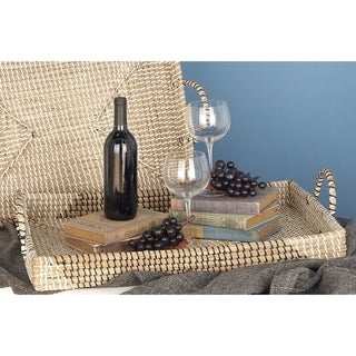 The Curated Nomad Buckroe 2-piece Seagrass Tray Set