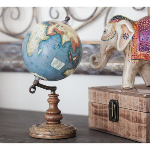 The Curated Nomad Buckroe Antique Metal/ Wood/ Marble/ Globe (5'' x 10'')