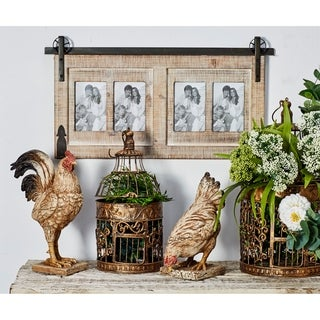 The Gray Barn Cocklebur Traditional 4-opening Wood and Iron Wall Photo Frame