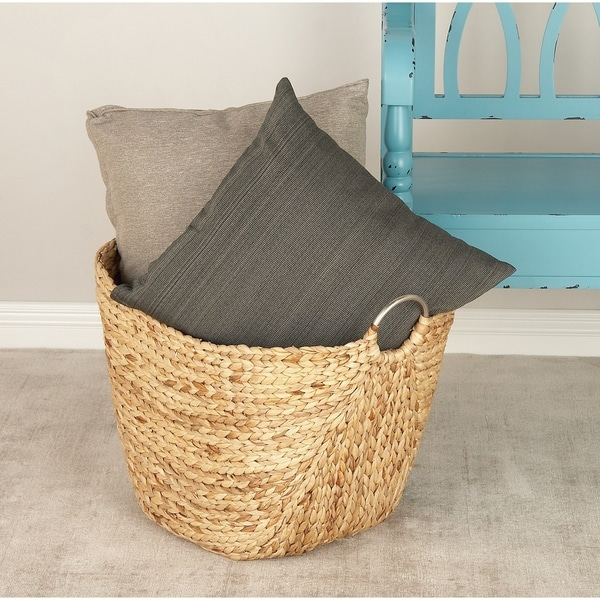The Curated Nomad Brown Dried Plant Material Contemporary Storage Basket 19 x 21 x 17. Opens flyout.