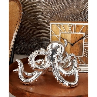 Silver Orchid Compson Silver Octopus Decor