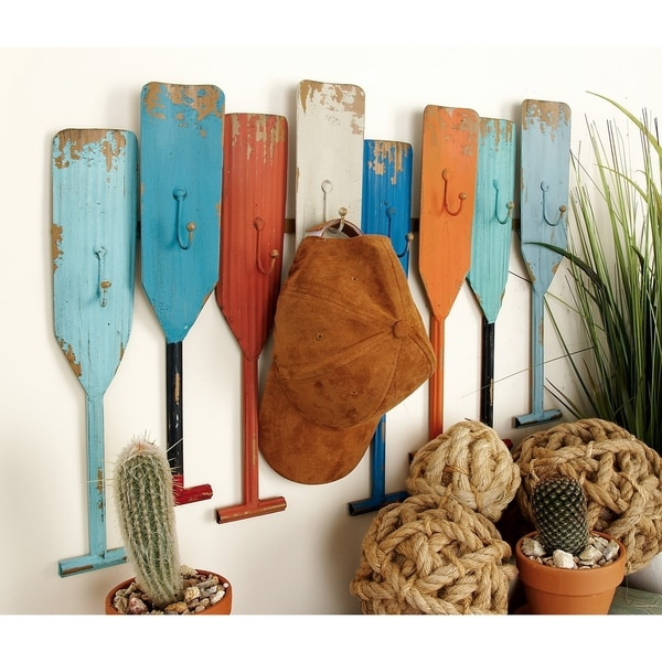 The Curated Nomad Biltmore Nautical Themed Metal Oar Wall Hook