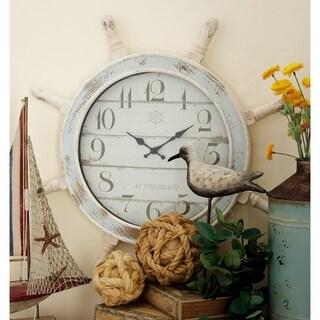 Havenside Home Buckroe Nautical Wood Anchor Wall Clock