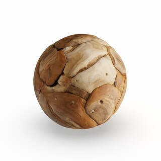 The Curated Nomad Biltmore 9-inch Teak Wood Ball
