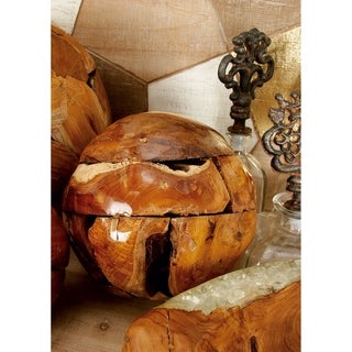 The Curated Nomad Biltmore 7-inch Teak Wood Ball