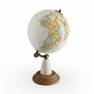 Link to The Curated Nomad Biltmore Wood Metal Marble Globe Similar Items in Accent Pieces