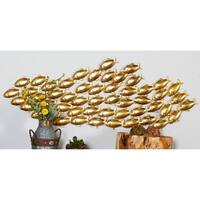 The Curated Nomad Biltmore Metal Gold Fish Wall Decor