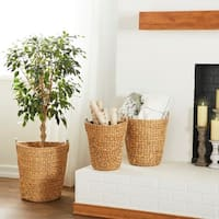 Havenside Home Buckroe 3-piece Tall Seagrass Basket Set