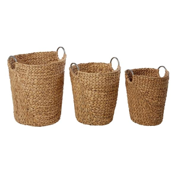 The Curated Nomad Biltmore 3 Piece Tall Seagrass Basket Set On Sale Overstock 21147882
