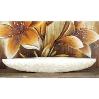 Strick & Bolton Tatum 36-inch Capiz Shell-covered Polystone/ Fiberglass Boat Bowl