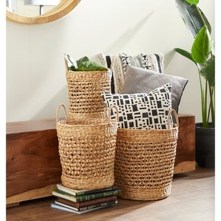 The Curated Nomad Biltmore 3-piece Seagrass Basket Set