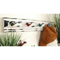 Havenside Home Buckroe 26-inches Wood and Metal Wall Hook Rack
