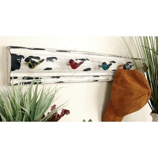 The Curated Nomad Biltmore 26-inches Wood and Metal Wall Hook Rack