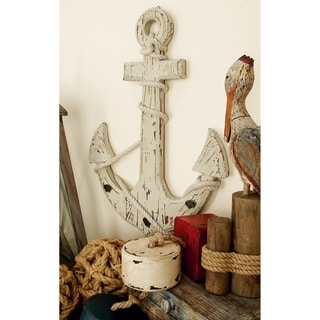 The Gray Barn Cocklebur Wooden Anchor with Hooks (24'' x 18'')