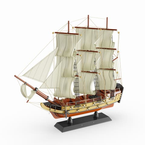 Copper Grove Sharbot Wood Sailboat Wide