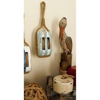 Havenside Home Buckroe Wood/ Rope Decorative Pulley
