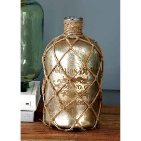 The Gray Barn Cocklebur Glass/ Jute Bottle (10'' x 5'')