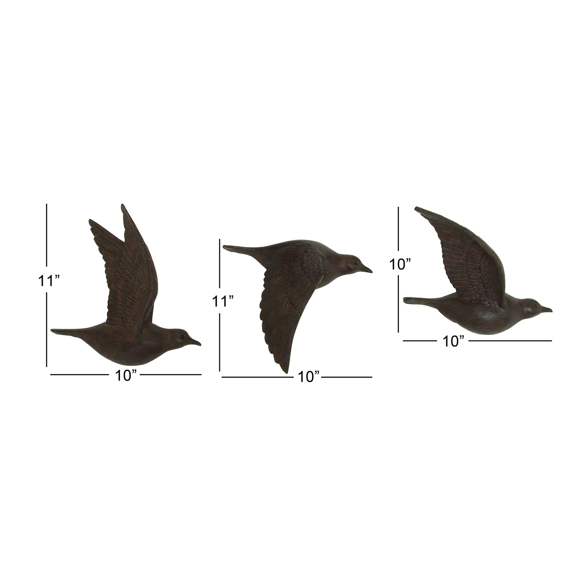 Brown Polystone Bird Wall Decor