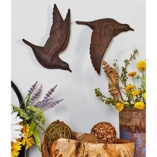 Copper Grove Sharbot 3-piece Brown Polystone Bird Wall Decor Set