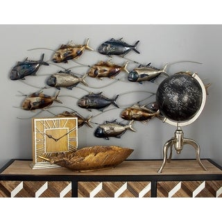 Copper Grove Sharbot Metal Fish Wall Decor