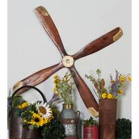 Rustic 44 Inch Wooden Airplane Propeller Wall Decor by Studio 350