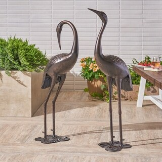Scarlet Outdoor 43-inch Aluminum Cranes (Set of 2) by Christopher Knight Home