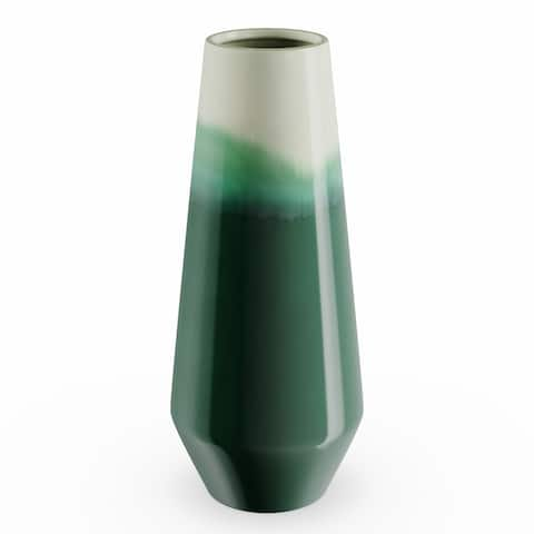 Carson Carrington Andalsnes Ombre Green Ceramic Vase (7'' x 16'')
