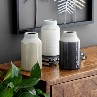 Link to Carson Carrington Andalsnes 3-piece White/ Grey Ceramic Vase Set Similar Items in Accent Lamps