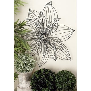 Copper Grove Sharbot 29-inch Floral Metal Wall Decor