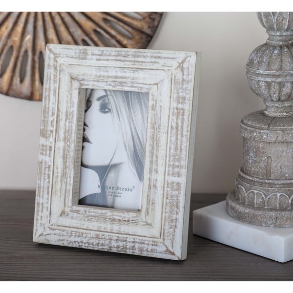 Shop The Gray Barn Cocklebur White Distressed Wood Picture Frame 7