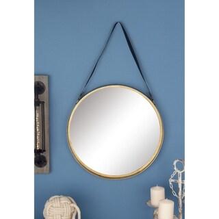 Carson Carrington Andalsnes Metal Wall Mirror (20'' x 33'') - Black/Gold