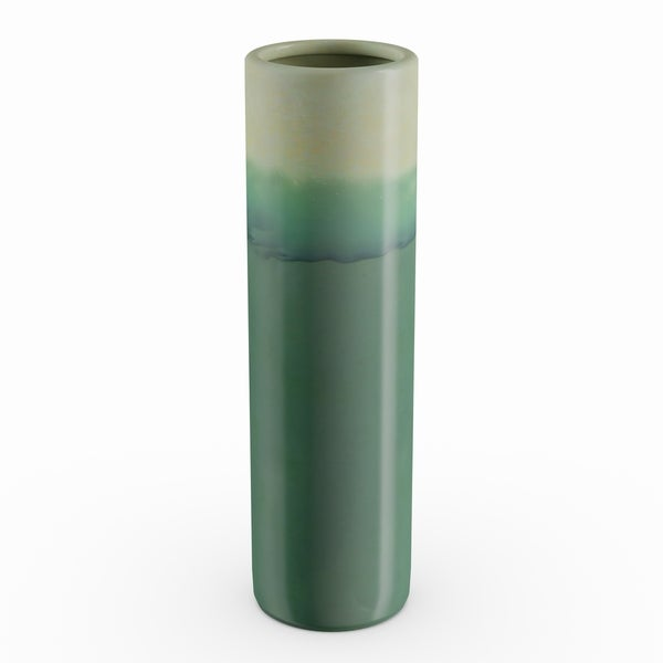Carson Carrington Andalsnes Ceramic Green Vase (4'' x 14'')