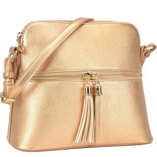 Dasein Fashion All-In-One Decorative Tassel Crossbody Handbag