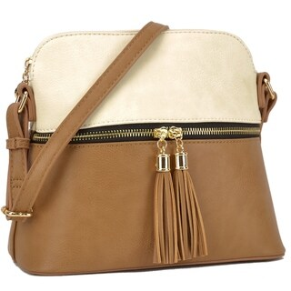 Dasein Fashion All-In-One Decorative Tassel Crossbody Handbag (2 options available)