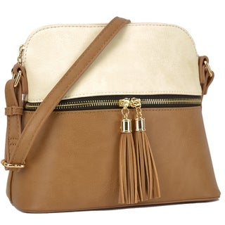 Dasein Fashion All-In-One Decorative Tassel Crossbody Handbag