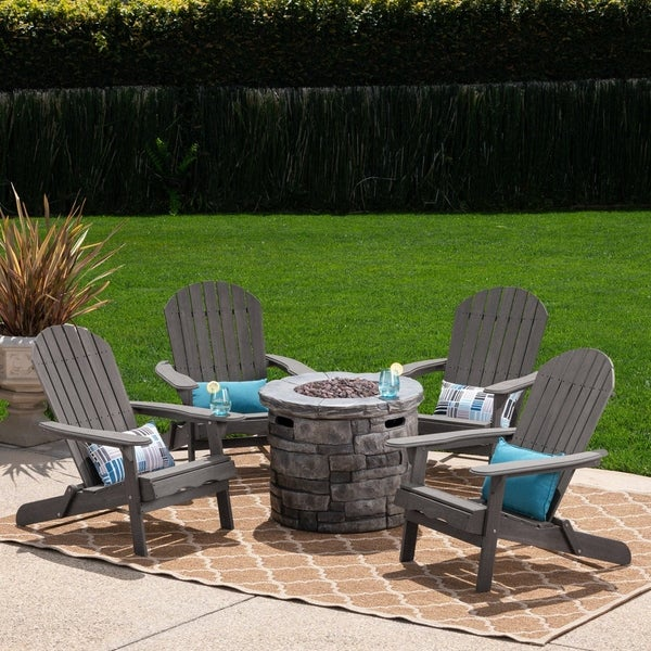 Maison Outdoor 5 Piece Adirondack Chair Set by Christopher Knight Home. Opens flyout.