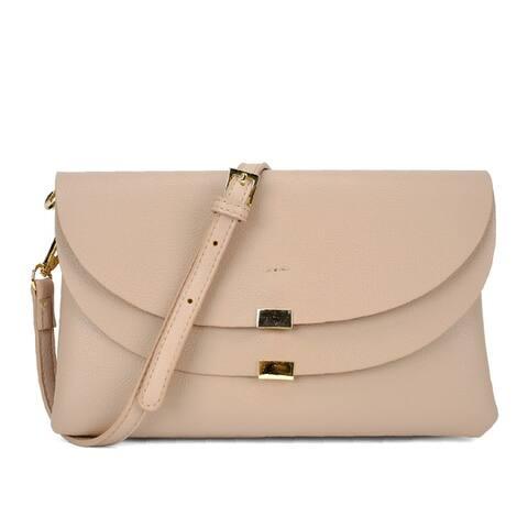 Dasein Fashion All-In-One Front Button Snap Crossbody Handbag