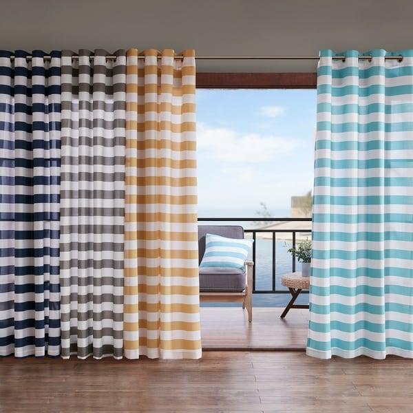 Madison Park Baros Printed Cabana Stripe 3M Scotchgard Outdoor Panel