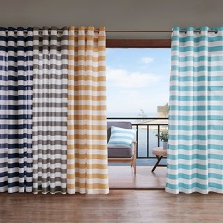 Madison Park Baros Printed Cabana Stripe 3M Scotchgard Outdoor Panel (More options available)