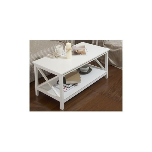 Overstock White Coffee Table.Coffee Table Country With A Shelf White