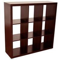 Caro - 3x3 Bookcase, Bookshelf / Room divider, black-brown