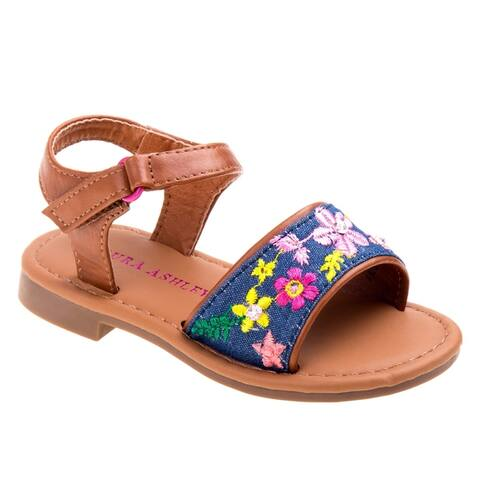 Laura Ashley Girl toddler sandal w/embroidery